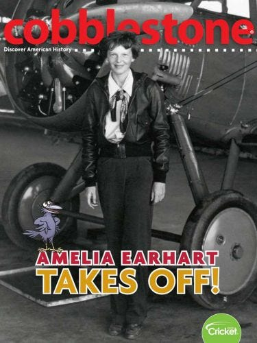 Amelia Earhart Takes Off